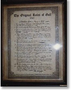ルール書 (写)The Original Rules of Golf 1745 Articles & Laws in Playing at Golf.